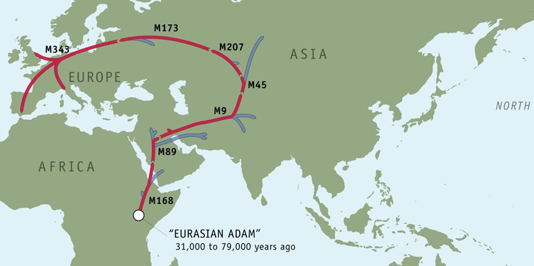 The Migration of R1b into Europe